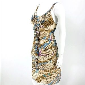 100% Silk Sun Dress Animal Print